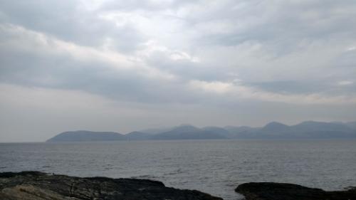 View of Arran fom Claonaig Bay
