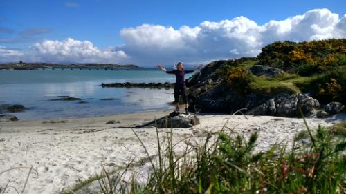 Me at the beach on Gigha