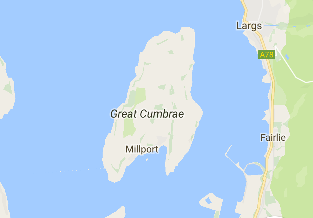Map of Great Cumbrae