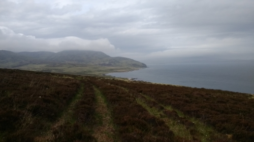Bothy from hill