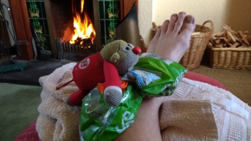Foot and fire
