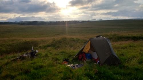 Sunny camp spot