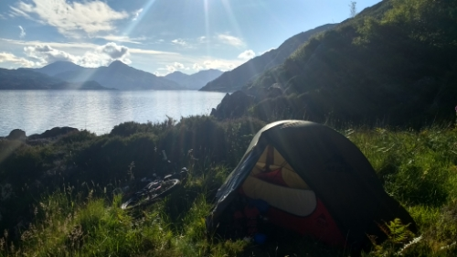Tent in sun